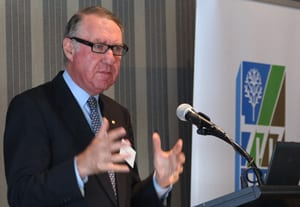 David Gonski addresses JNF    pic: Ingrid Shakenovsky