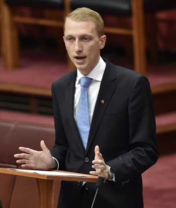 James P{aversion makes his maiden speech