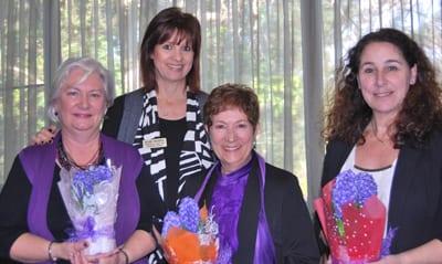 Jane Silverman, Melanie Lindenberg, Hazel Stein and Arlene Latham