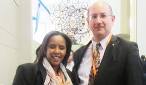 Deputy Knesset Speaker Pnina Tamano-Shata with Jeremy Jones