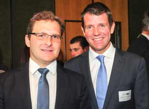 Jeremy Spinak and Premier Mike Baird