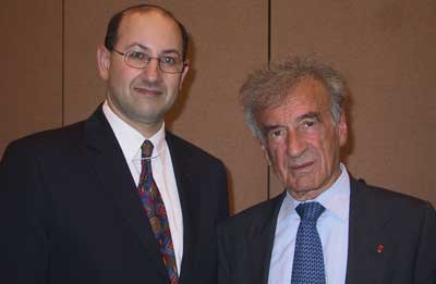 Jeremy Jones with Elie Wiesel