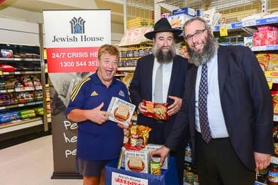 Jonsthsn Coleman, Rabbis Nochum Schapiro and Rabbi Mendel Kastel