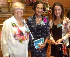 Josie Lacey, Governor Marie Bashir and Jamie Liftschitz