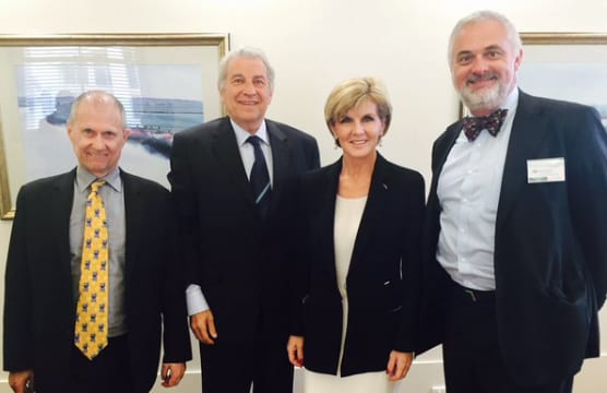 Ted Lapkin, Dr Danny Lamm, Foreign Minister Julie Bishop and Sam Tatarka