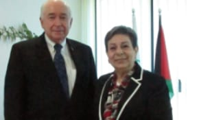 Sir Jim McLay and Hanan Ashrawi