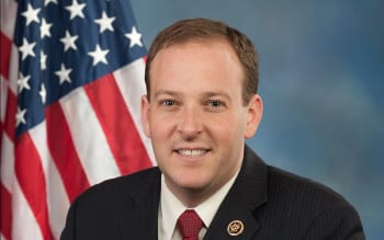 Jewish New York Rep. Lee Zeldin (pictured) handily won re-election in that state's 1st District over his Democratic opponent Anna Throne-Holst. Credit: U.S. Congress.