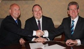 John Robertson, Yair Miller and Premier Barry O'Farrell