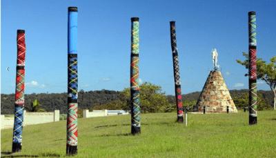 Tartan power poles in Maclean