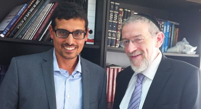 Manny Wachs and Rabbi Abraham Melchior
