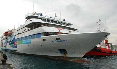 The Mavi Marmara, the vessel involved in the 2010 Gaza flotilla incident, which led to the deterioration of Israeli-Turkish relations. Credit: Wikimedia Commons.