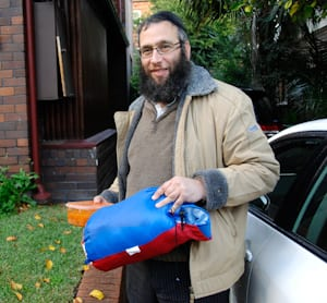 Rabbi Mendel Kastel, sleeping bag and tomato soup