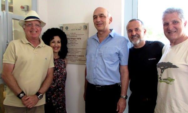 Brad and Beverley Garlick, JNF's Ron Shani and Zeev Kedem and former JNF Australia CEO Rob Schneider