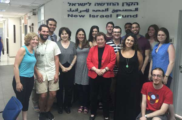 Last year's participants with Naomi CHazan