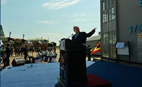 Netanyahu speaks at Entebbe   Photo: Kobi Gideon GPO