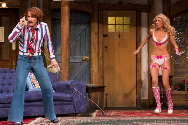 Josh McConville, Ash Ricardo in Sydney Theatre Company's Noises Off Photo: Brett Boardman