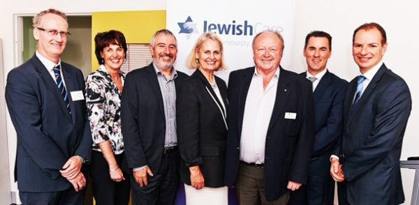 From left: James O'Brien, Maureen Flaherty, Mike Debinski, Andrea Coote, Laurie Harkin, Bill Appleby and David Southwick.