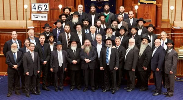 Rabbis and their guests All pix Paul Topol