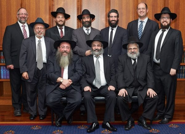 ORA Executive Rabbis; Goodhardt, Ingram, Goldstein, Gurevitch, Glasman, Lewin, Feldman, Gutnick, Kluwgant, Ulman