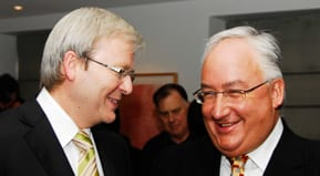 Kevin Rudd and Michael Danby