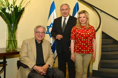 Itzhak Perlman visits Prime Minister Benjamin Netanyahu and his wife Sara at their home