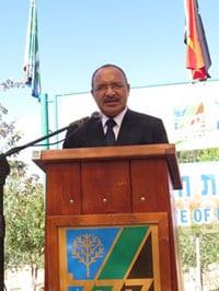 Prime Minister Peter O'Neill   pic: Yoav Devir