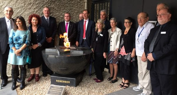 Victorian State and local Politicians visiting the Jewish Holocaust Centre as part of the JCCV Politicians' Jewish Familiarisation Day