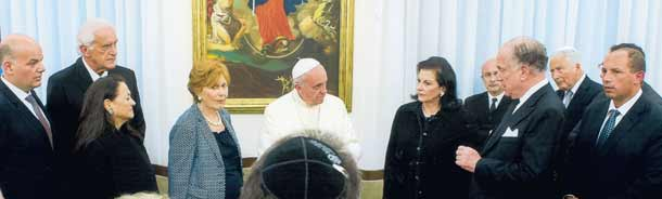 The Pope meets Jewish leaders