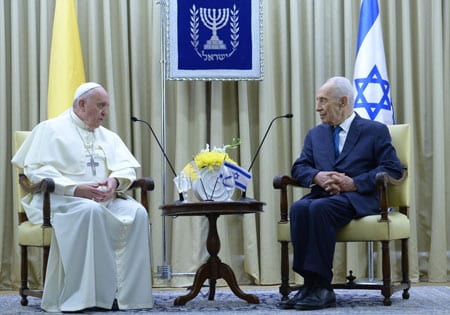 The Pope meets President Shimon Peres Photo Mark Neiman/GPO