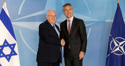 Presedient Reuven Rivlin and Secretary-General Stoltenberg
