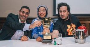 Mo Elleissy, Dr Nasya Bahfen and Bram Presser – the winning team
