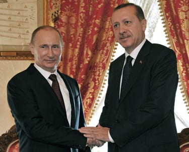 Russian President Vladimir Putin (left) and Turkish President Recep Tayyip Erdogan. Credit: Dorian Jones via Wikimedia Commons.