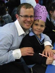 Rabbi Krebb with son Yehuda