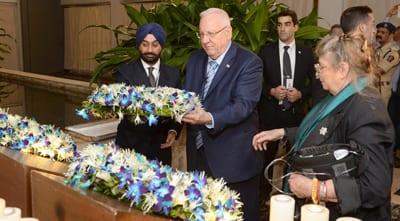 President Rivlin lays a wreath