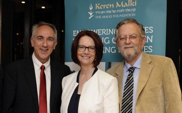 Ramatayim Men's Choir Director Richard Shavei Tzion, Former Australian Prime Minister Julia Gillard,  Keren Malki Chairman Arnold Roth