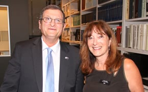 Israeli Ambassador Shmuel Ben-Shmuel with Aviva Wolff