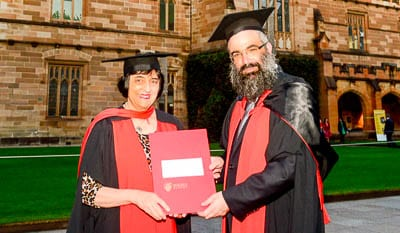 Professor Suzanne Rutland and Rabbi Dr Dovid Slavin PhD