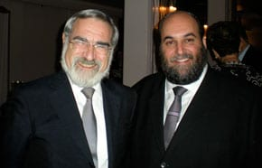 Chief Rabbi Lord Sacks with Rabbi Silberhaft