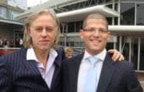 Jeremy Balkin [rt] with Bob Geldof