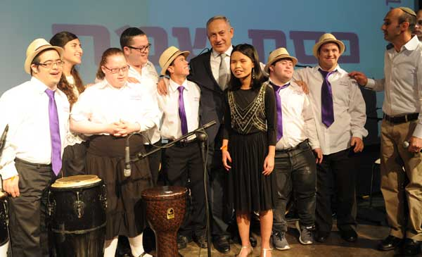 Shalva band with PM Benjamin Netanyahu