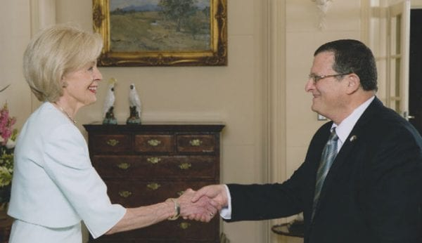 Governor-Geberal Quentin Bryce and Ambassador Shmuel Ben-Shmuel