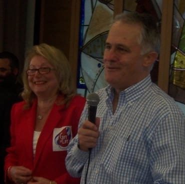 Shula Endrey-Walder with Malcolm Turnbull