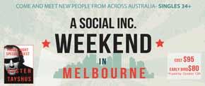 Nov-07 to Nov-09   Melbourne:   A social weekend