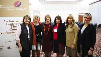 L-R Marianne Cooklin, Lorraine Gold, Debbie Gross- Conference Coordinator, Anne Lewin, Sheiny New, Debbie Wiener