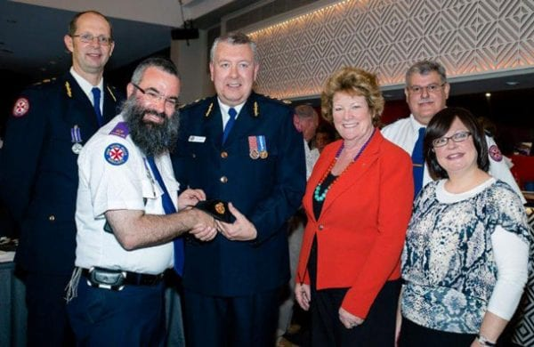 Chief Chaplain Paul McFarlane, Rabbi Dovid Slavin, Minister Jill Skinner, Chaplain Glen Renton and Rebbitzin Laya Slovin
