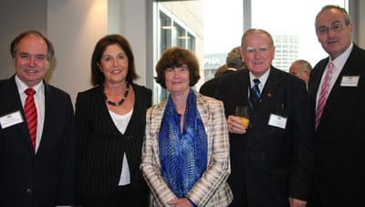 David Clarke, Isabelle Shapiro, Professor Bettina Cass, Rev Fred Nile and Walt Secord
