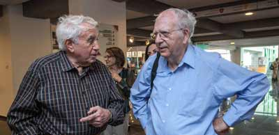 Harry Triguboff and  Efraim Halevy