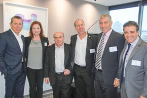 Sharansky joins UIA for lunch