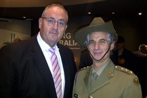 Walt Secord and army Chaplain Rabbi Jeffrey Kamins