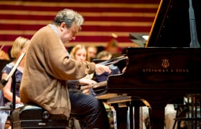 Yefim Bronfman, pianistic force, in two acts